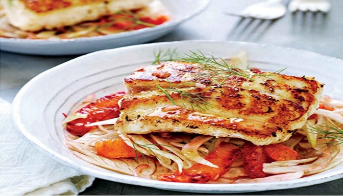 Pan-Seared Grouper with Fennel Salad