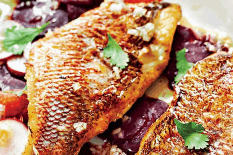 Pan Seared Red Snapper with Skin