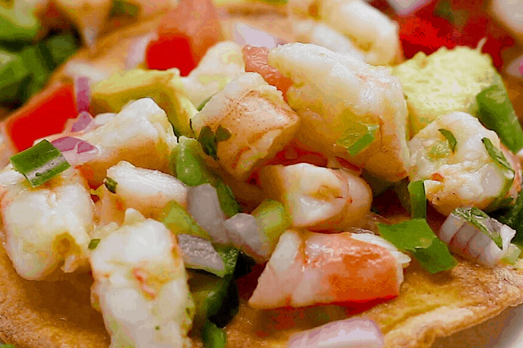The Best Mexican Shrimp Tostadas Ceviche