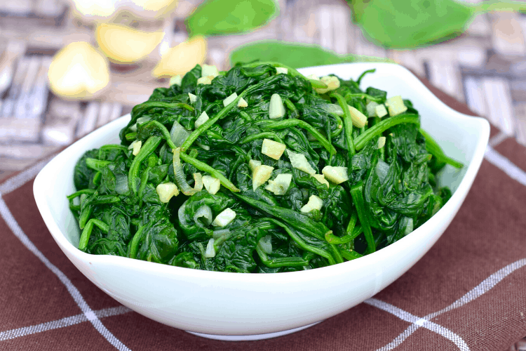 Wilted Sautéed Spinach
